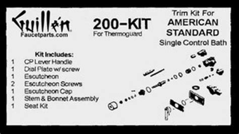 Tapco Faucet Parts by Tub And Shower Valve One Handle Re Build Kit And Trim Kits