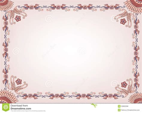 brown floral pattern border beige frame with a floral border and abstract patt royalty