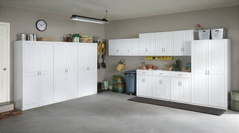 white laminate garage cabinets three tall garage storage cabinets garage storage ideas