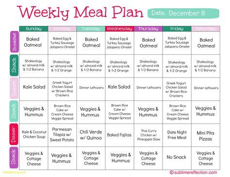 printable clean eating plan best of weekly meal plan template best templates