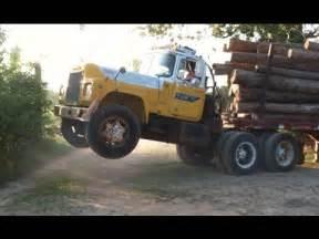 mack truck does wheelie youtube