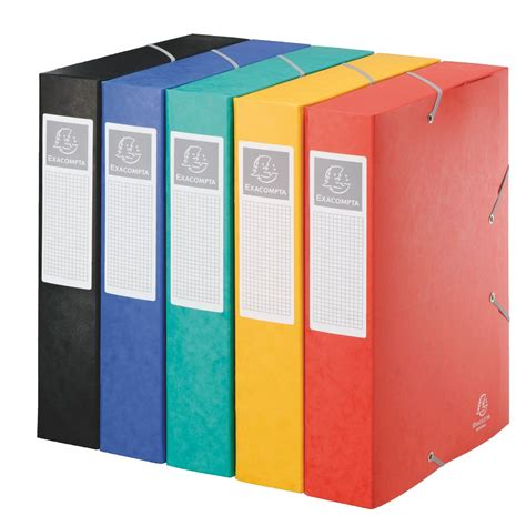 fourniture de bureau d馭inition chemise box carte cartobox exacompta 24 x 32 cm dos 6 cm