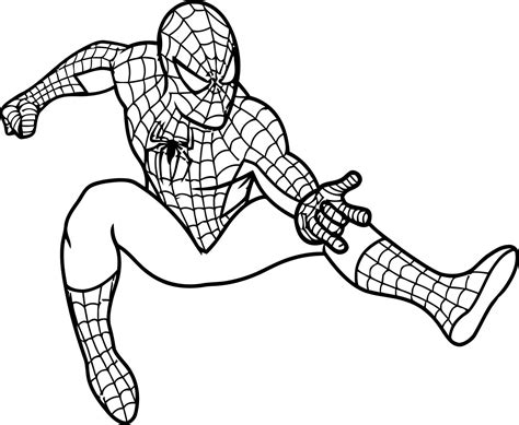 printable coloring in pages free printable spiderman coloring pages for kids