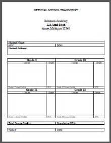 official transcript template official high school transcript template for homeschool