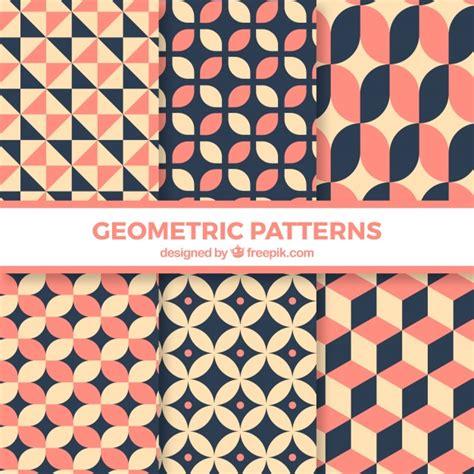 figuras geometricas vector conjunto de patrones con figuras geom 233 tricas descargar