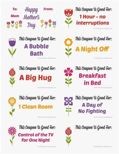 printable mother s day coupon book template a time for seasons