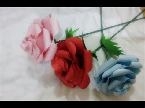 youtube membuat bunga dari kertas cara membuat bunga mawar dari kertas youtube