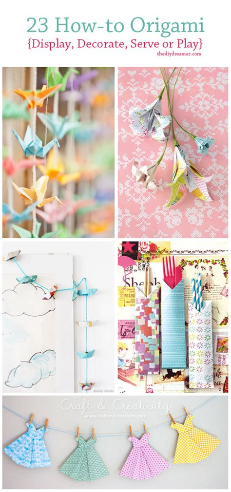How To Make Paper Decorations For Your Room - 23 tutorials on how to origami the d i y dreamer