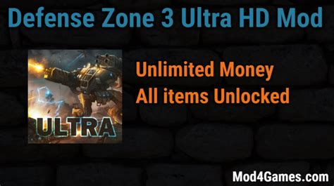 game mod gratis offline defense zone 3 ultra hd hacked game mod apk free with