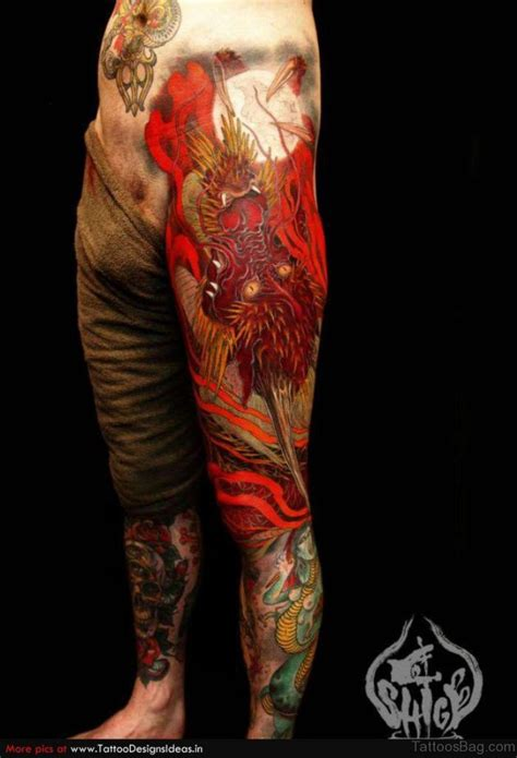 dragon leg tattoo designs 33 modern tattoos for leg