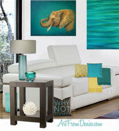 Teal And Brown Home Decor Teal Decor Turquoise And Orange Yellow From Artfromdenise