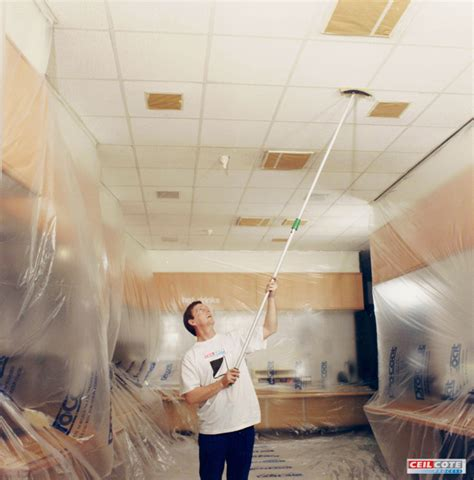 Cleaning Ceilings by Ceiling Spray Painting For Commercial Premises Ceilcote