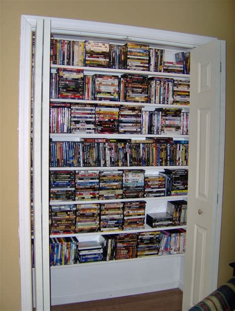 Closet Dvd by Bar That Was In Our Den Into A Closet For