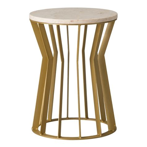 gold metal garden stool emissary millie metal stool table gold