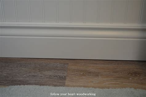 follow your woodworking bathroom renovation part - Beadboard Baseboard