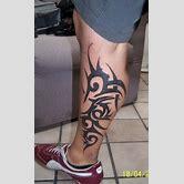 tribal-tattoos-for-men-on-calf