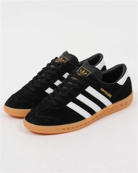 Adidas Hamburg Black | adidas hamburg trainers black white gum originals shoes