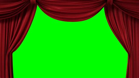 the end curtains closing red curtain with a title quot the end quot 3d animation