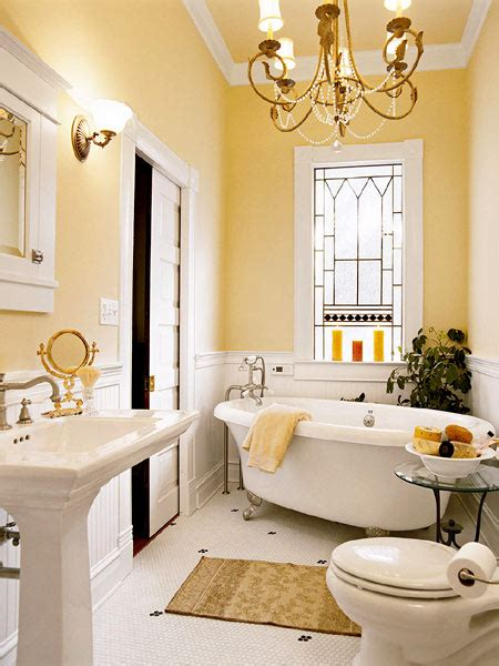 country yellow bathroom decorating ideas home improvement