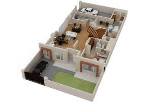 home plan 3d 2d 3d house floorplans architectural home plans netgains