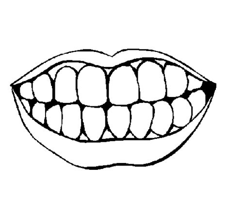 coloring pages of colored lips colored page mouth and teeth painted by alan