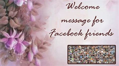 welcome message welcome message for friends
