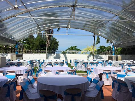 outdoor event space 10 bungalows which up as venues for events venuescape