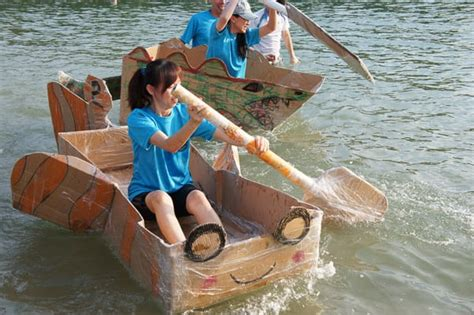 boat building team activity the cardboard boat building challenge jambar team building