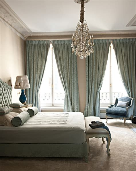 Bedroom Chandelier Ideas Bedroom Blue Chandelier Curtains Decor Image 143524 On Favim