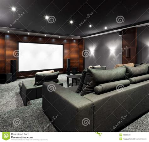 home theatre interior home theater interior stock photo image 43939593
