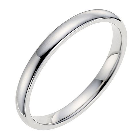 18ct white gold 2mm wedding ring ernest jones