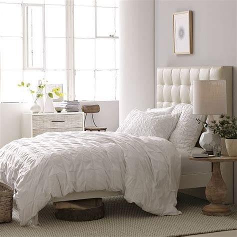 west elm white headboard tall leather grid tufted headboard west elm
