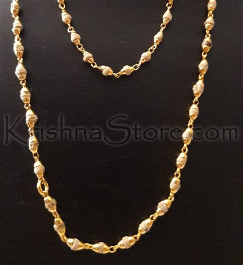 gold plated silver tulsi necklace small