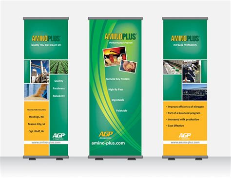 design a banner stand agp annual meeting banners on behance