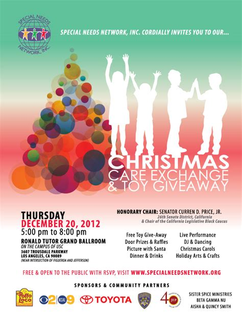 Christmas Toy Giveaways - rsvp today for the 3rd annual snn christmas care exchange toy giveaway 171 1 in 88 a