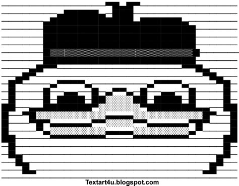 Text Art Memes - dolan duck meme ascii art for facebook cool ascii text