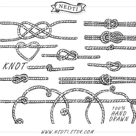 doodle knots 15 knotted rope doodle vector the knot