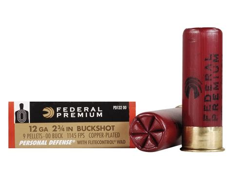 federal premium personal defense ammo 12 ga 2 3 4 reduced