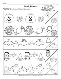 Kindergarten Halloween Pattern Worksheets | 17 best images of halloween preschool worksheets