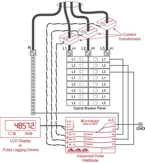 how to m wattnode advanced pulse kilowatt hour kwh energy meter