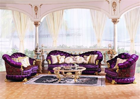 luxury purple furniture sets sofas chairs for living room interior designs luxury baroque style living room furniture sofa set