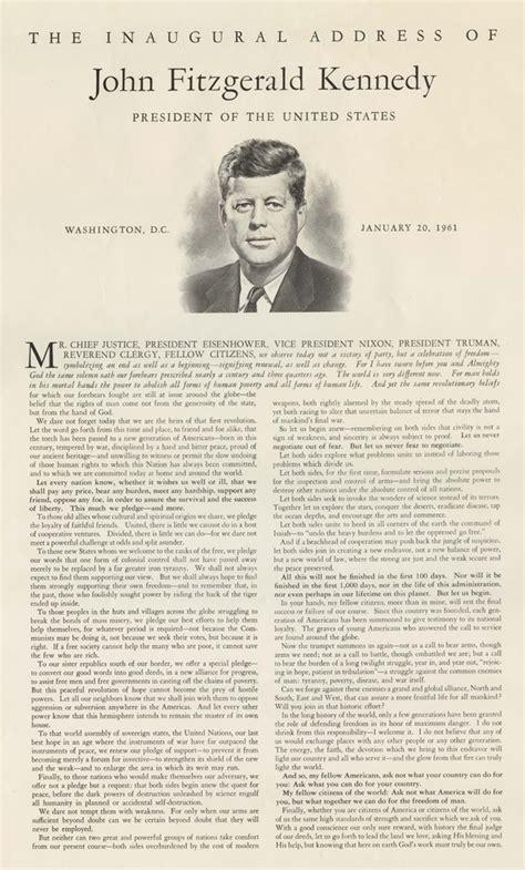 F Kennedy Inaugural Speech Essay by F Kennedy S Inaugural Address 1961 Ap Us History Study Guide From The Gilder Lehrman