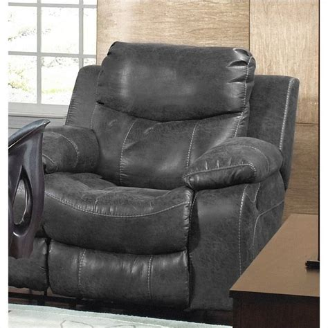catnapper leather recliners catnapper catalina leather glider recliner in steel