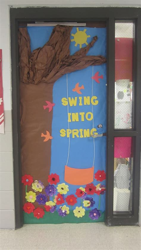 swing into spring swing into spring bulletin boards pinterest trees