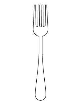 Fork Pattern Tattoos Pinterest Patterns Template And Scrapbooking Fork Template Printable
