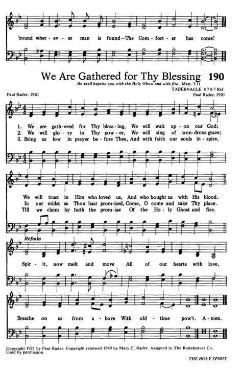 the comforter has come hymn lyrics hymns for the living church 189 o spread the tidings