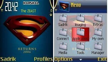 mobile themes of movies download superman returns nokia theme mobile toones