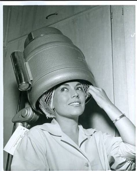 In Curlers Under Dryer | under the dryer postcards from the beauty parlor