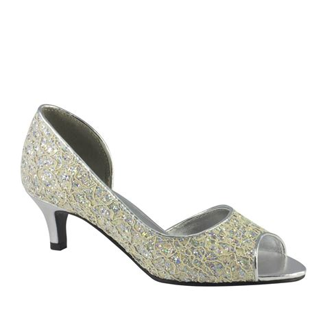 touch ups high heel shoes irene in ivory with silver