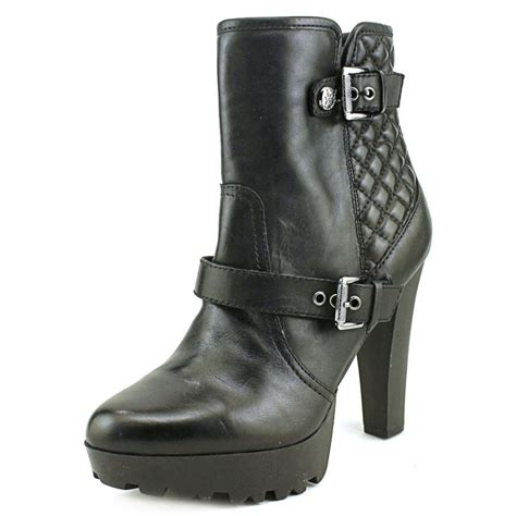 womens leather ankle boots guess clary leather black ankle boot boots